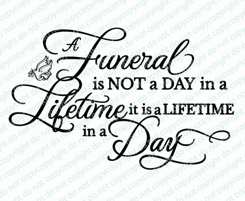 A Funeral Quote Word Art
