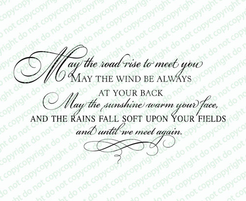 Irish Blessing Funeral Quote Word Art