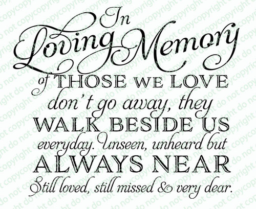 Of Those We Love Funeral Quote Word Art Design