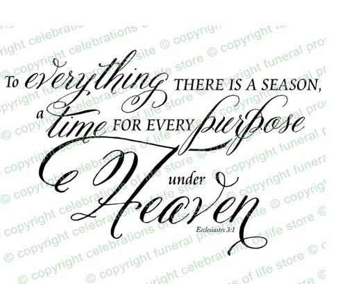 Season For Everything Bible Verse Word Art