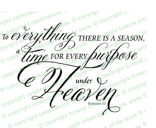 Season For Everything Bible Verse Word Art