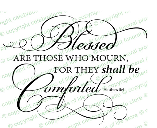 Blessed Are Those Who Mourn Bible Verse Word Art