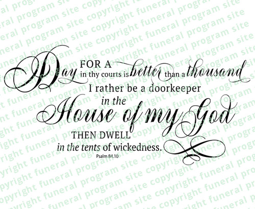 Be A DoorKeeper Bible Verse Word Art