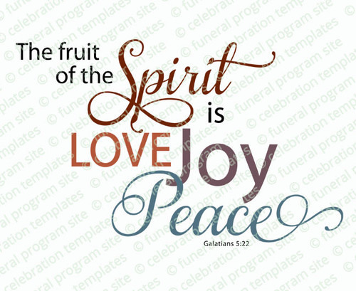 The Fruit of the Spirit Bible Verse Word Art