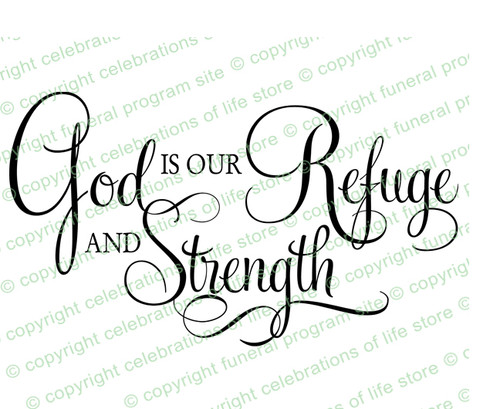 God Is Our Refuge Bible Verse Word Art