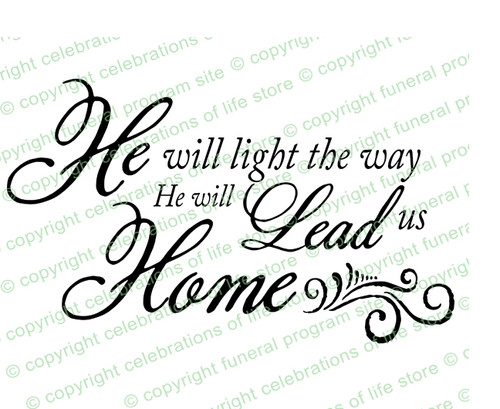 He Will Light The Way Bible Verse Word Art