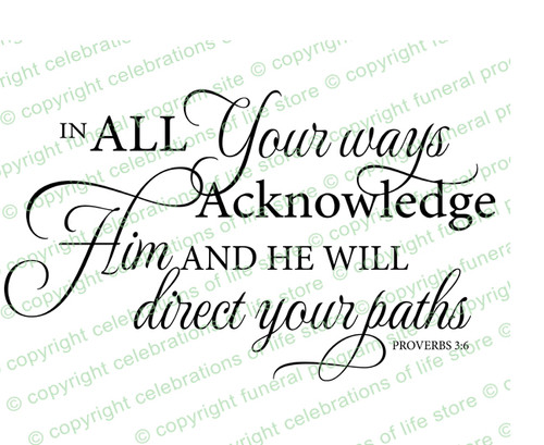 In All Your Ways Bible Verse Word Art