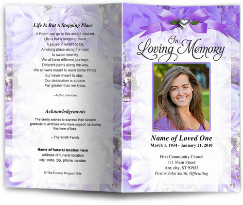 amethyst lavender funeral program site