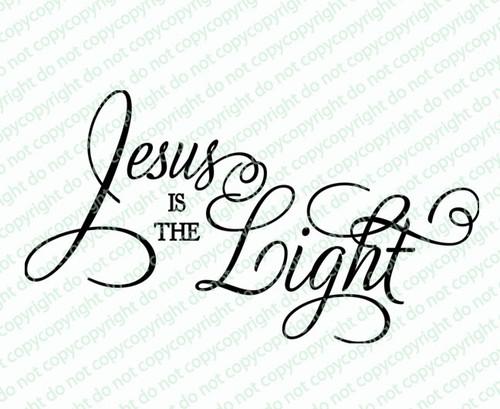 Jesus Is The Light Bible Verse Word Art