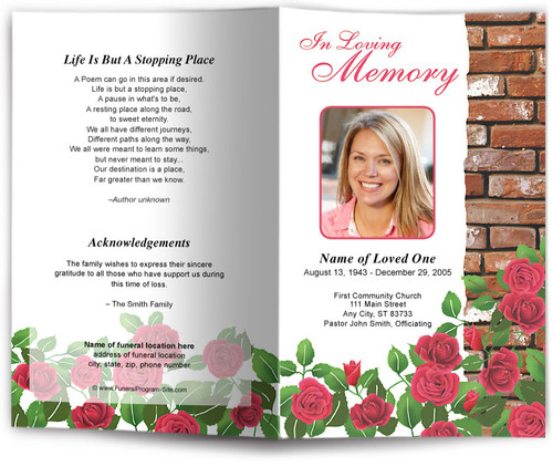 austere funeral program site