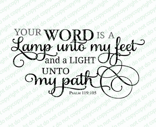 Your Word Is A Lamp Funeral Bible Verses Word Art