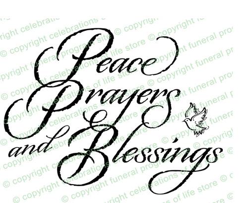 Peace Prayers Blessings Word Art Design