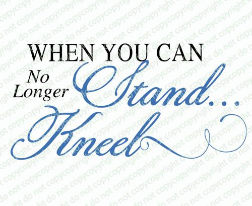 Stand Kneel Condolences Word Art