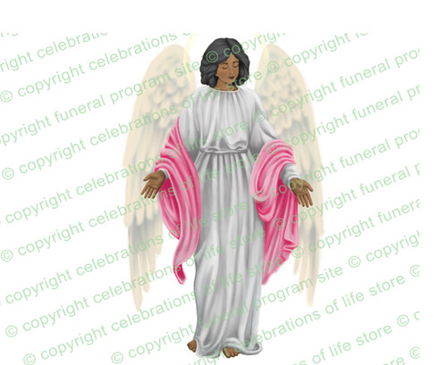 Angelina Angel Vector Clip Art  dark skin
