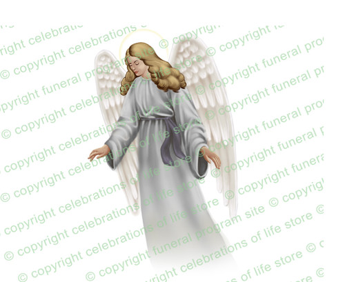 Eve Angel Vector Funeral Clipart light skin