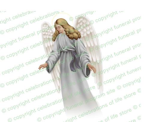 Eve Angel Vector Funeral Clipart light skin