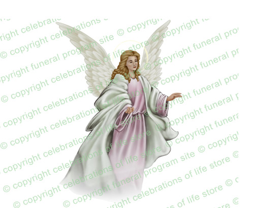 Faith Angel Vector Funeral Clipart light skin