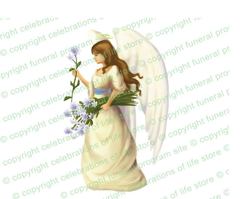 Florentine Angel Vector Funeral Clipart light skin