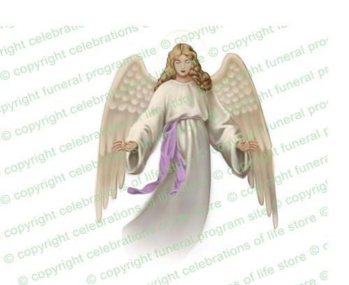 Holy Angel Vector Funeral Clipart light skin
