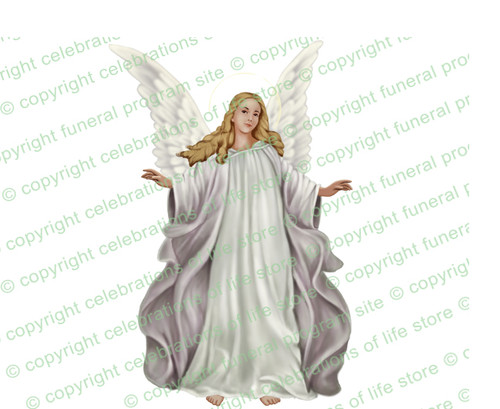 Madonna Angel Funeral Clipart light skin