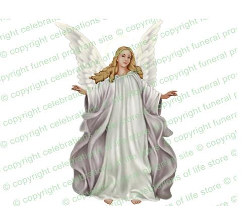 Madonna Angel Funeral Clipart light skin
