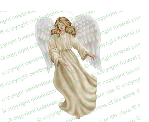 Spirit Angel Funeral Clipart light skin