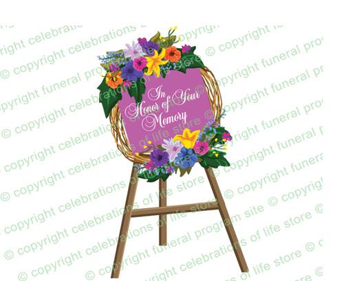 Standing Wreath Funeral Clipart Design