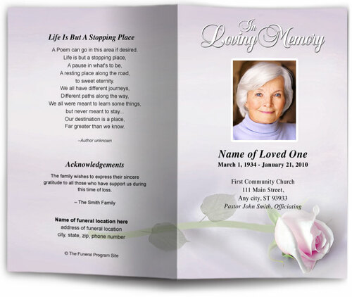 beloved lavender funeral program