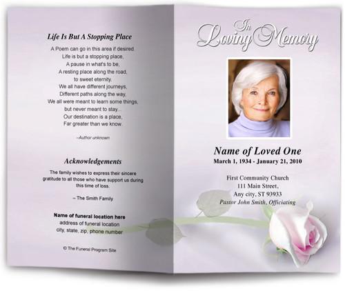beloved lavender funeral program