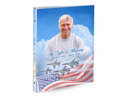 Air Force 3-Ring Book Binder Memorial Funeral Guest Book