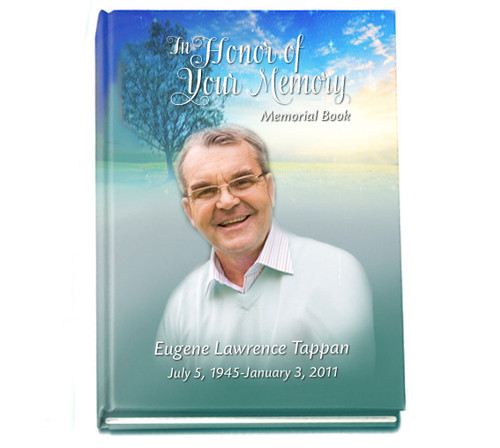 Custom Hardcover Perfect Bind Funeral Guest Book 8x10