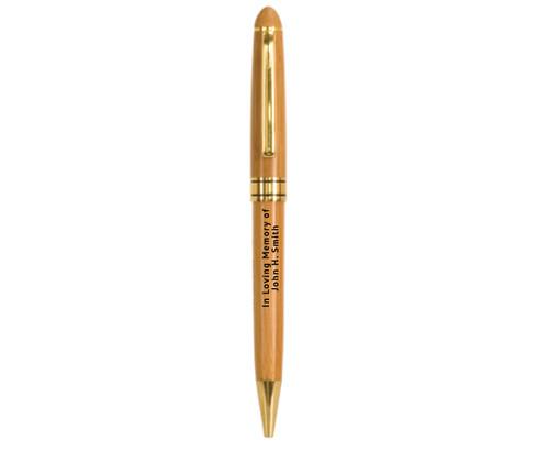 In Loving Memory Memorial Pens   Wooden Bamboo Pen