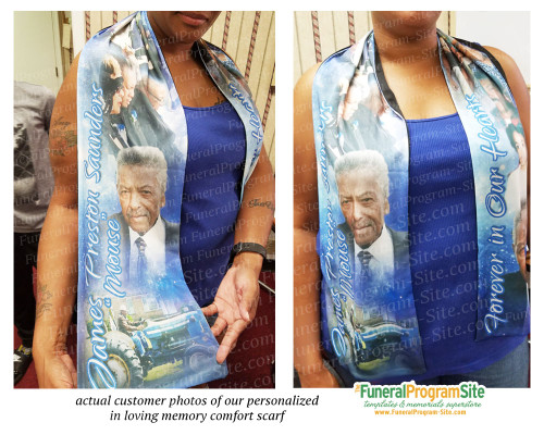Basketball In Loving Memory Comfort Wrap Scarf