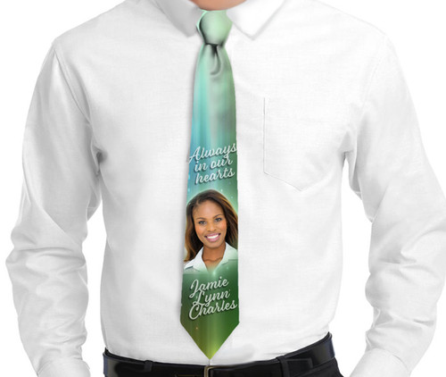 Glisten Memorial In Loving Memory Personalized Necktie