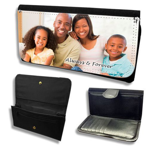 Cascade Personalized In Loving Memory Personalized Wallets inside view