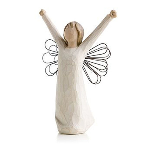 Courage Personalized Angel Willow Tree Figurines view 2