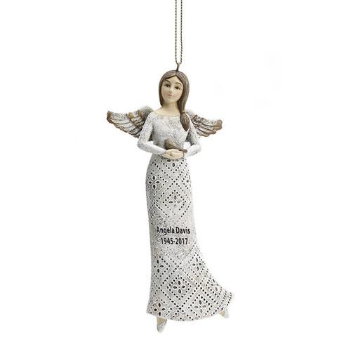 Hanging In Loving Memory Bird Angel Figurines