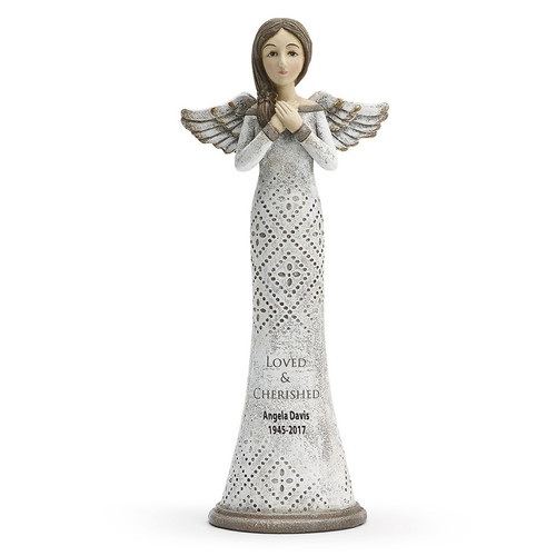 Loved & Cherished In Loving Memory Angel Figurines