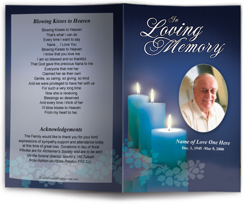 enlighten funeral program