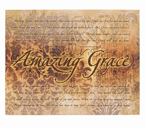 Amazing Grace Faith Based Inspirational Canvas Art