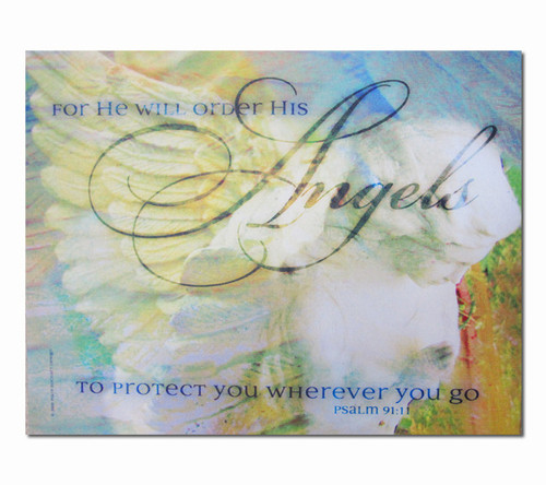 Angel Protection Faith Religious Inspirational Canvas Art