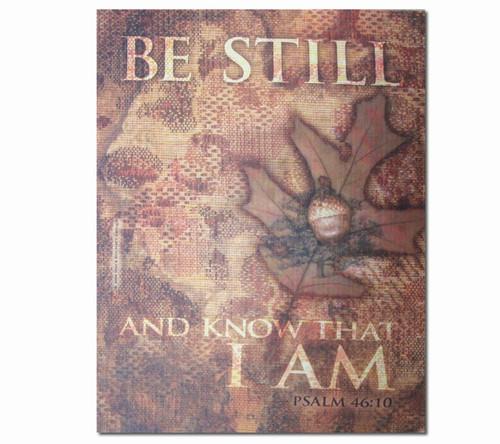 Be Still Faith Religious Inspirational Canvas Art