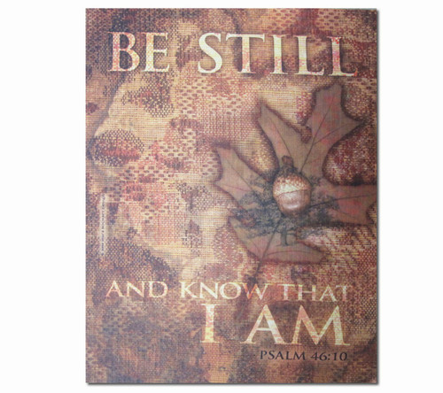 Be Still Faith Religious Inspirational Canvas Art