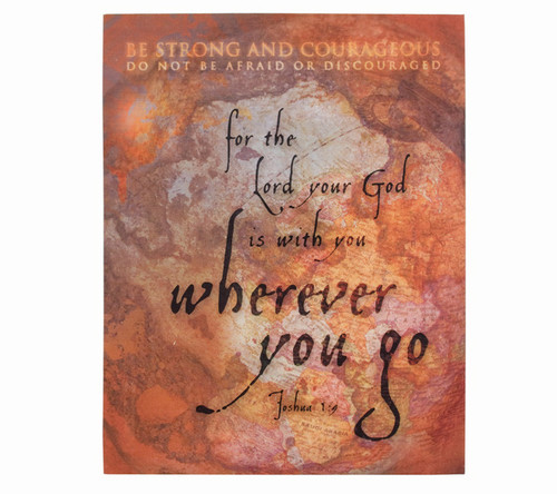 Be Strong and Courageous Religious Inspirational Canvas Art