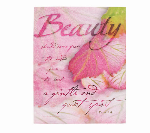Beauty Faith Religious Inspirational Canvas Art