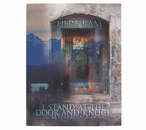 I Stand At The Door Faith Religious Inspirational Canvas Art