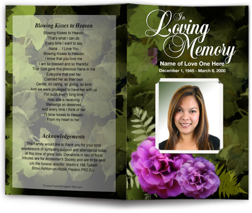 essence funeral program template