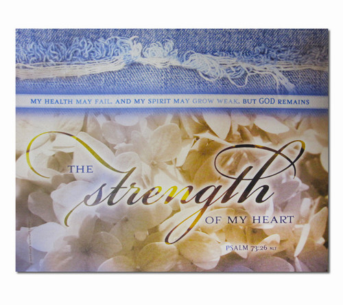 Strength Of My Heart Faith Inspirational Canvas Art