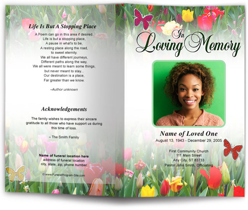 fields funeral program template