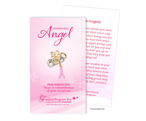 Memorial In Loving Memory Breast Cancer Awareness Pins